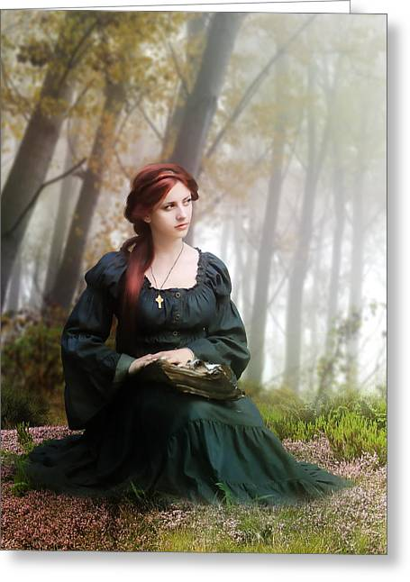 Lucid Contemplation Greeting Card by Mary Hood