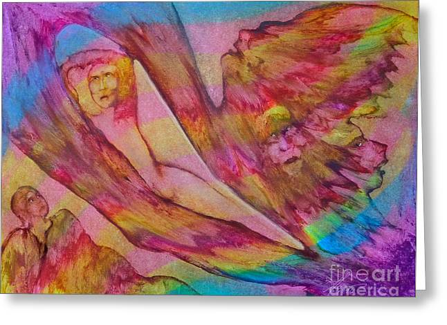 Lucid Dreaming Greeting Card by LM Jones