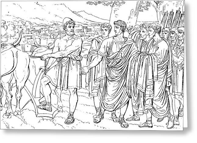 Lucius Cincinnatus Greeting Card by Granger