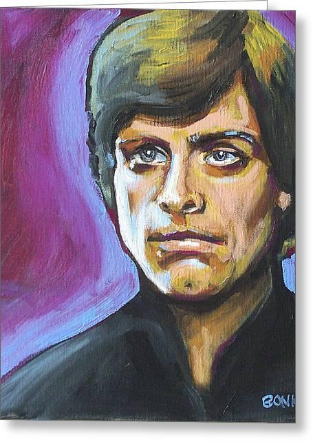 Luke Skywalker Greeting Card by Buffalo Bonker