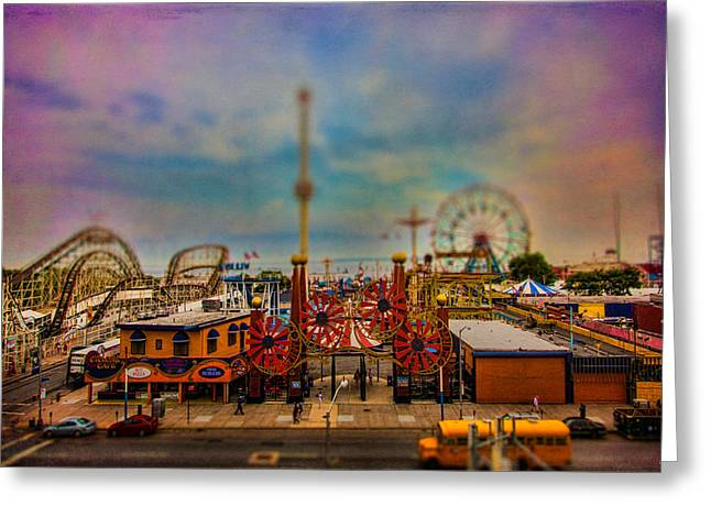 Luna Park-a-rama Greeting Card by Chris Lord