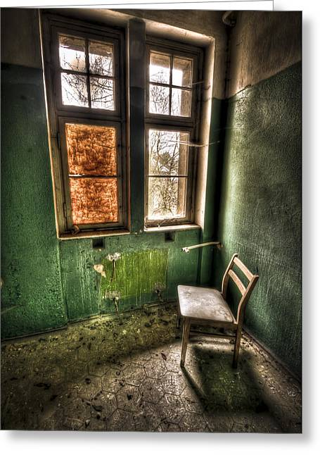 Lunatic Seat Greeting Card by Nathan Wright