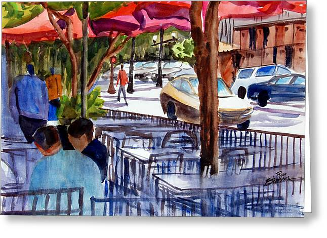 Lunch Alfresco Greeting Card by Ron Stephens