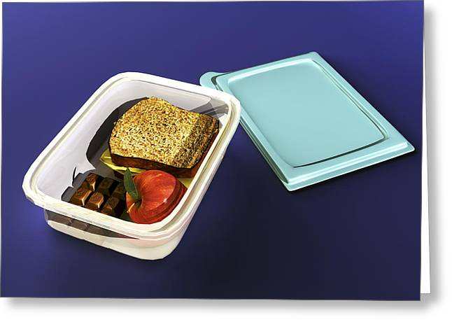 Lunchbox, Computer Artwork Greeting Card