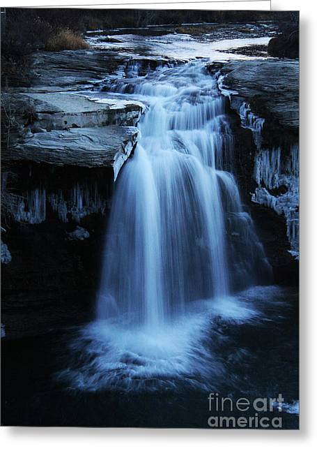 Greeting Card featuring the photograph Lundbreck Falls by Alyce Taylor