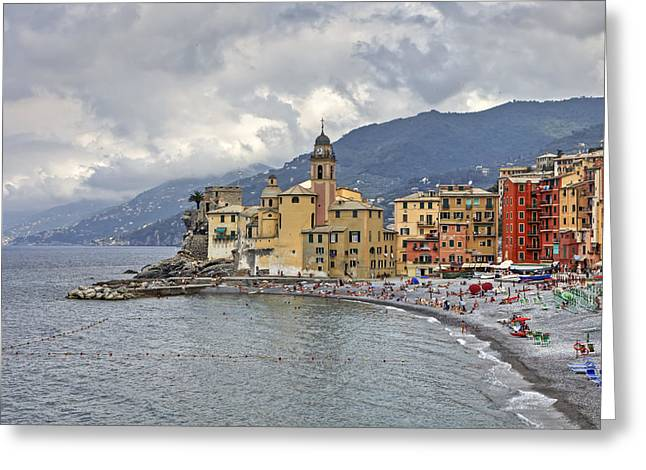 Lungomare In Camogli Greeting Card by Joana Kruse
