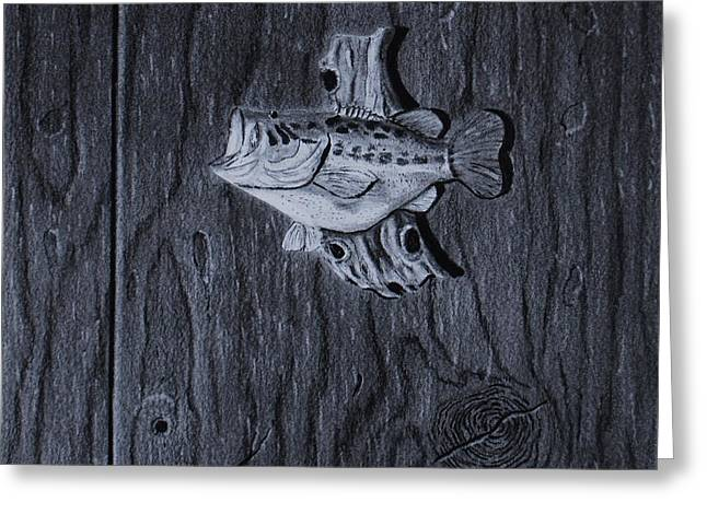 Lunker Greeting Card by Brian Hustead