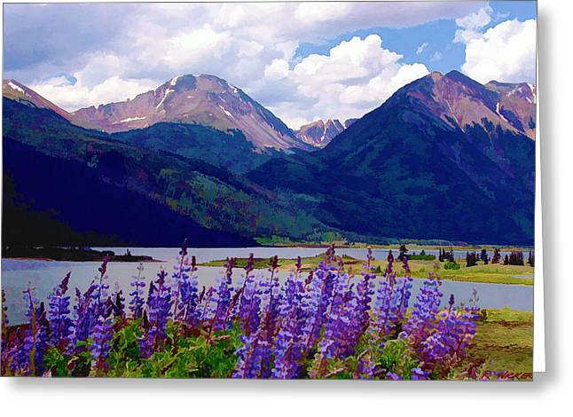 Lupine Lake Greeting Card