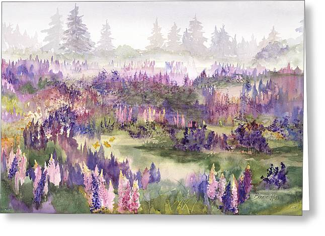 Lupines Galore Greeting Card