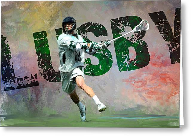 Lusby Lacrosse Greeting Card by Scott Melby