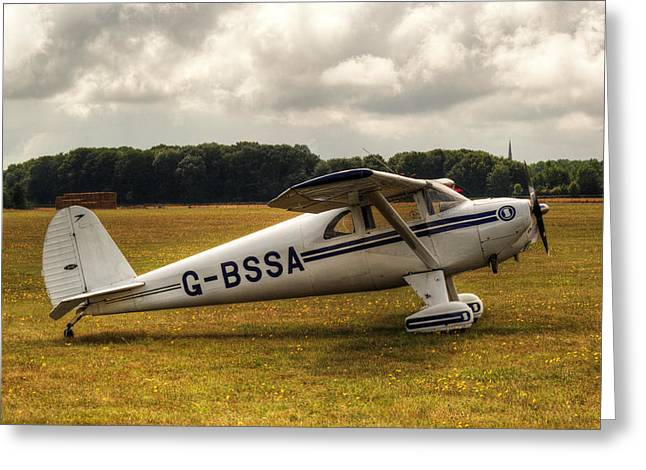 Luscombe 8e Deluxe 2 Seater Plane Greeting Card