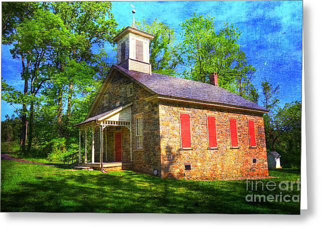 Lutz-franklin Schoolhouse Greeting Card by Paul Ward