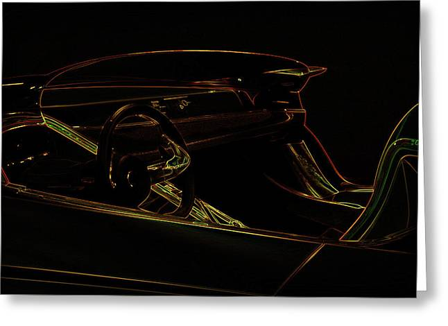 Luxury Sport Car Illustration Greeting Card