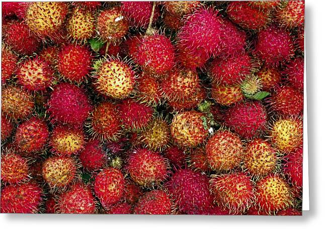 Lychees Greeting Card by Bjorn Svensson