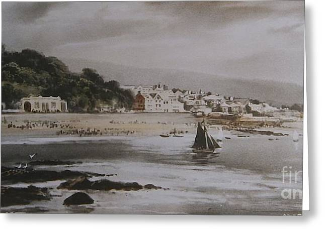 Greeting Card featuring the photograph Lyme Regis by Gary Bridger