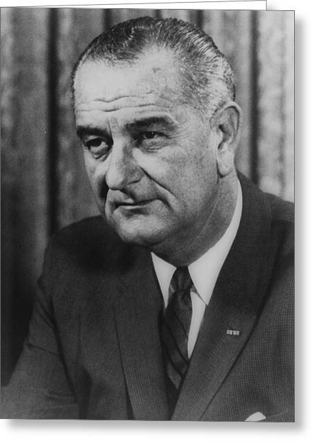 Greeting Card featuring the photograph Lyndon B Johnson by International  Images