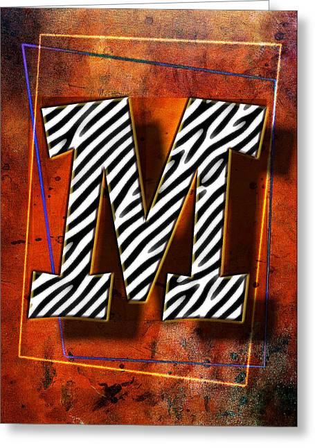 M Greeting Card by Mauro Celotti