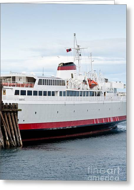 M V Coho Docked At Port Angeles Pt Greeting Card by Andy Smy