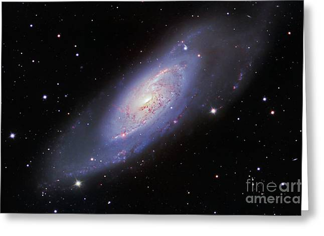 M106 Spiral Galaxy Greeting Card by Ken Crawford