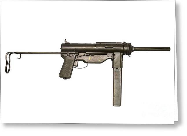 M3a1 Submachine Gun, 45 Caliber Greeting Card by Andrew Chittock