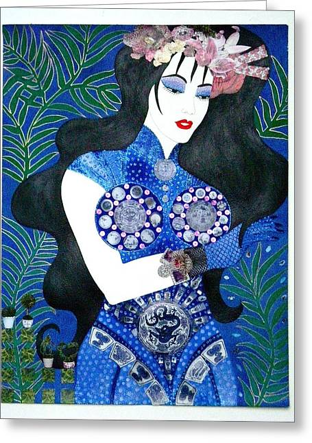 Ma Belle Salope Chinoise No.11 Greeting Card by Dulcie Dee