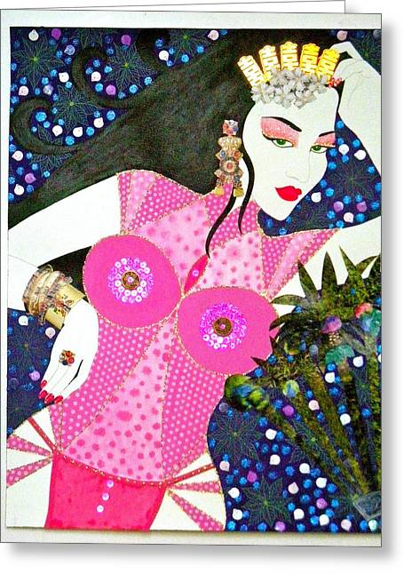 Ma Belle Salope Chinoise No.12 Greeting Card by Dulcie Dee