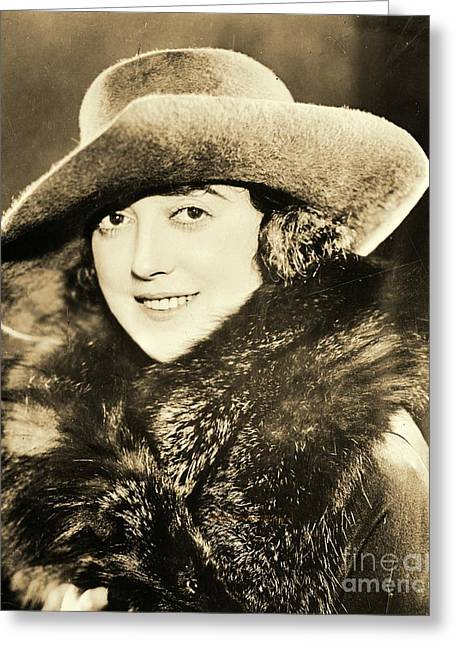Mabel Normand Greeting Card by Padre Art