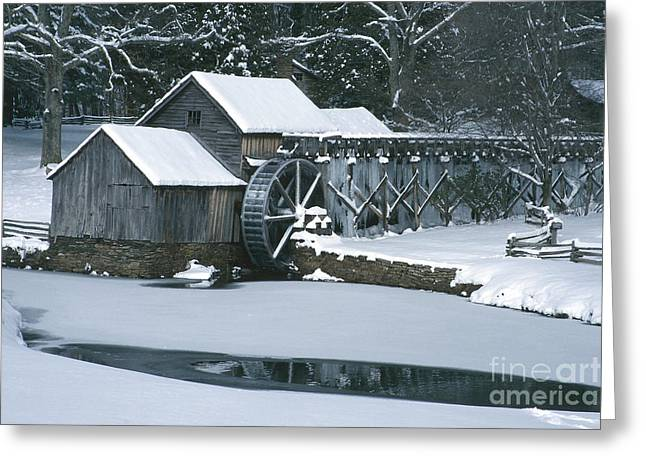 Mabry Mill Winter Greeting Card