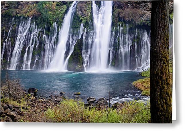 Macarthur-burney Falls Panorama Greeting Card