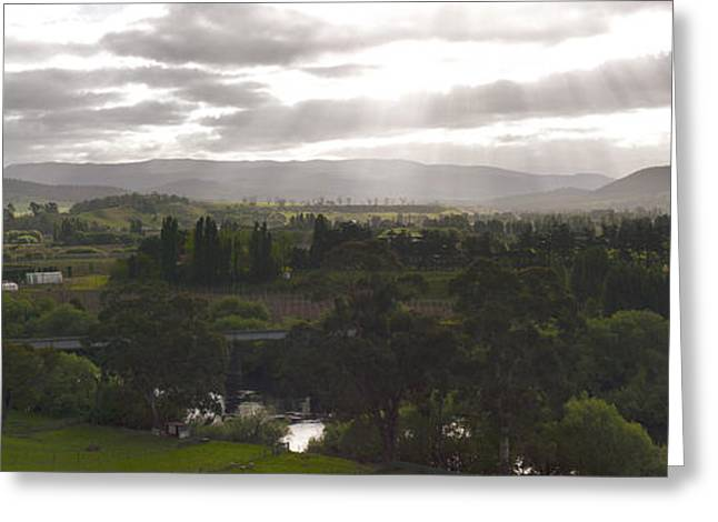 Greeting Card featuring the photograph Macquarie Plains Panorama by Odille Esmonde-Morgan