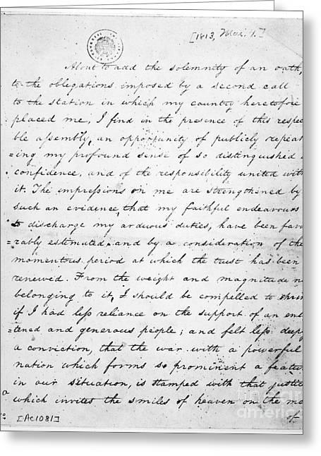 Madison: Inaugural, 1813 Greeting Card