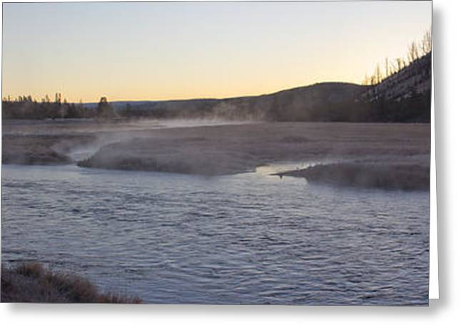 Madison River Sunrise Greeting Card by Twenty Two North Photography