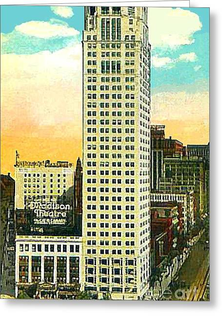 Madison Theatre In Detroit Mi 1920 Greeting Card