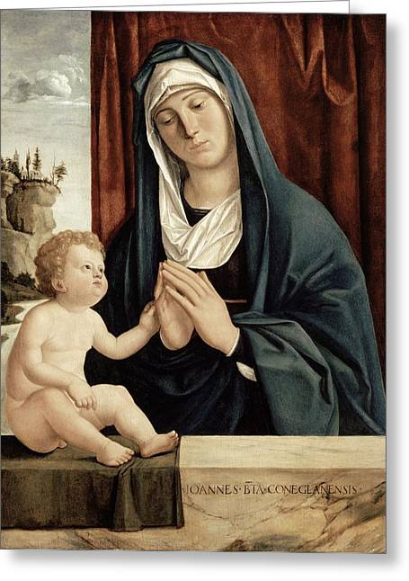 Madonna And Child - Late 15th To Early 16th Century  Greeting Card
