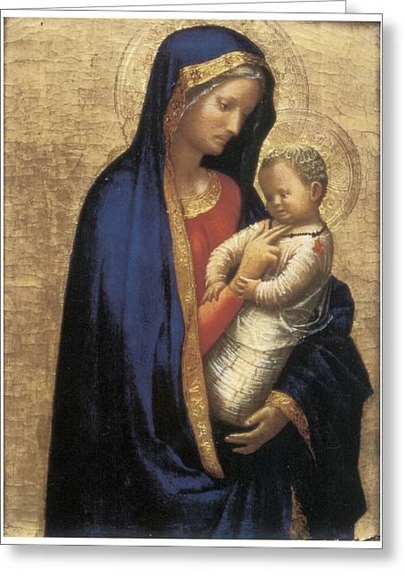 Madonna Casini Greeting Card by Tommaso Macassio