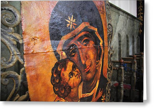 Madonna Icon - Szentendre Greeting Card by Tibor Puski