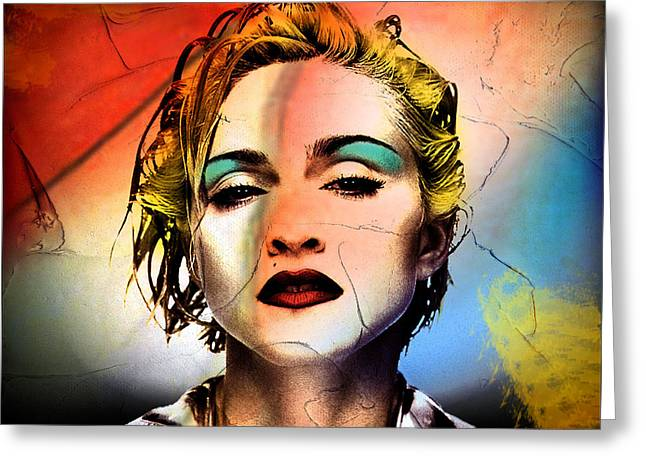 Madonna  Greeting Card by Mark Ashkenazi