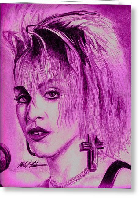 Madonna Greeting Card by Michael Mestas