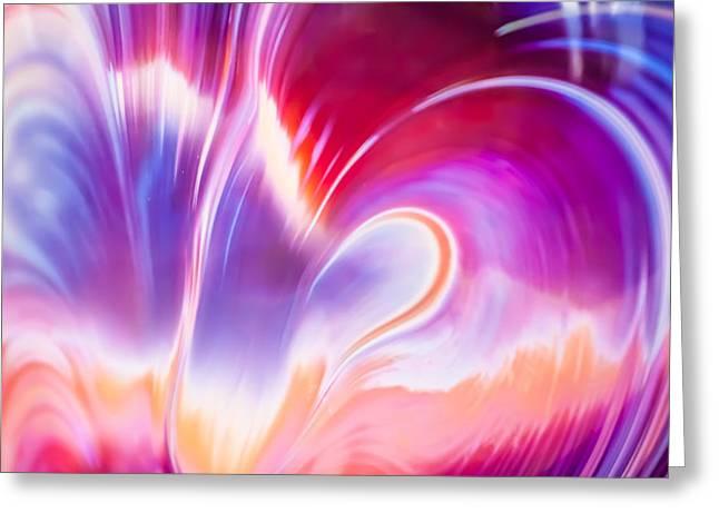 Magenta Wave Greeting Card by Adam Pender