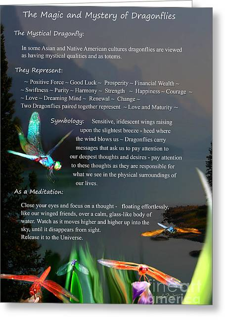 Magic And Mystery Of Dragonflies Greeting Card
