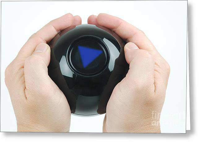 Magic Eight Ball, No Message Greeting Card by Photo Researchers, Inc.