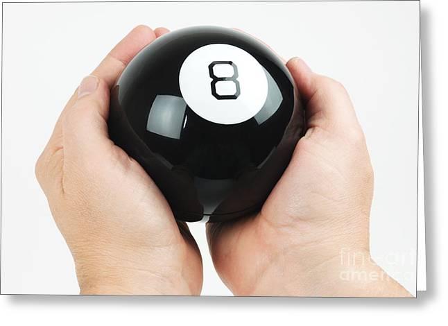 Magic Eight Ball Greeting Card