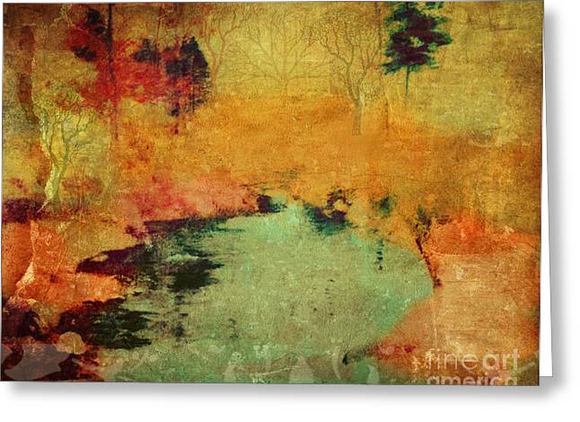 Magic In Autumn Mist Greeting Card by Sacred  Muse