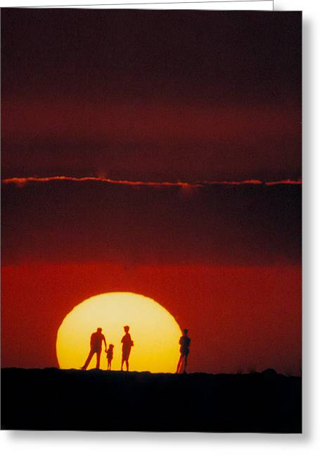 Magic Island Sunset Greeting Card