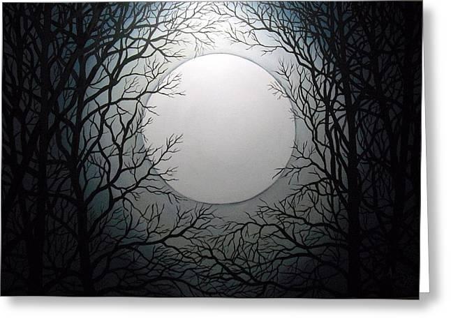 Magic Moon Greeting Card by Anne Thomassen