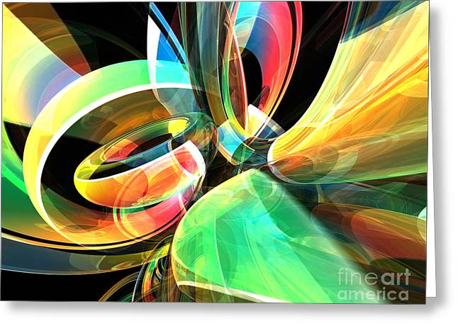 Greeting Card featuring the digital art Magic Rings by Phil Perkins