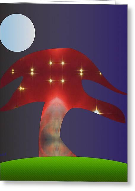 Magic Tree Greeting Card by Asok Mukhopadhyay