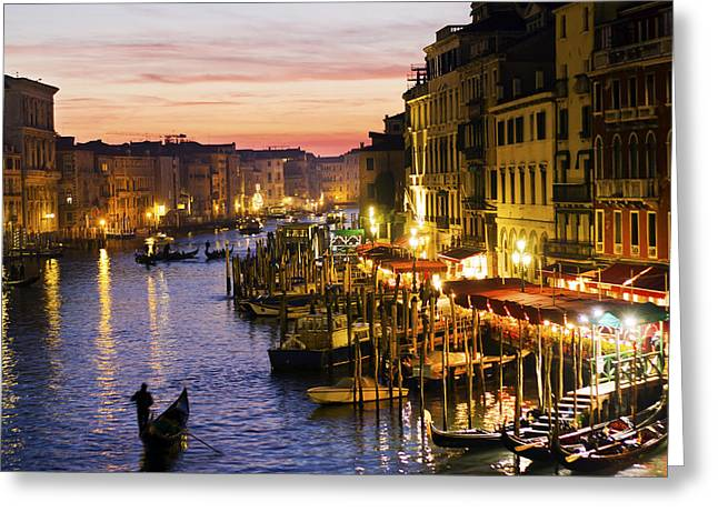 Magic Venice Greeting Card by Francesco Riccardo  Iacomino