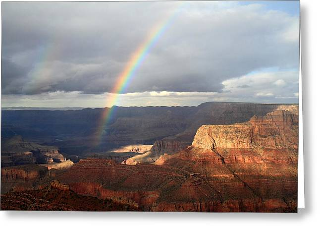 Magical Rainbow In The Grand Canyon Greeting Card by Pierre Leclerc Photography