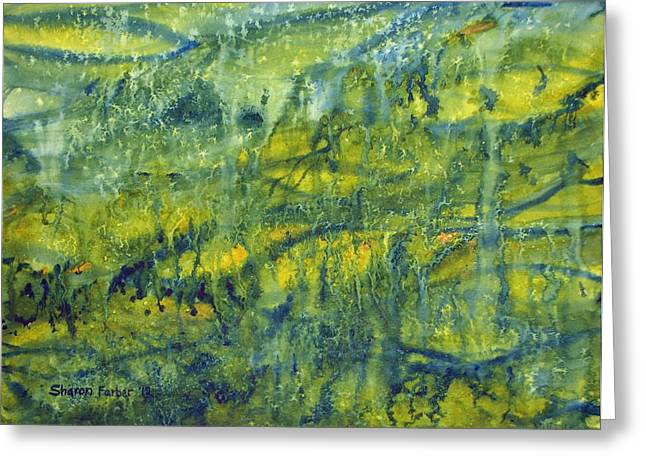 Magical Rainforest Greeting Card by Sharon Farber